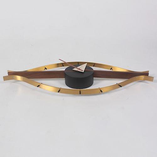 ジョージ・ネルソン/EyeClockアイクロックウォールナット無垢材詳細画像6