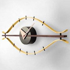 ジョージ・ネルソン/EyeClockアイクロックウォールナット無垢材