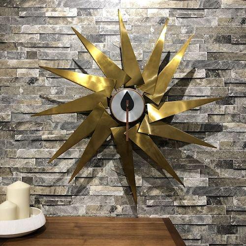 ジョージ・ネルソン/TurbineClockタービンクロック【銅板×ウォールナット材】詳細画像1