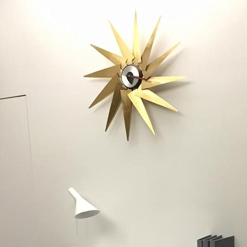 ジョージ・ネルソン/TurbineClockタービンクロック【銅板×ウォールナット材】詳細画像5