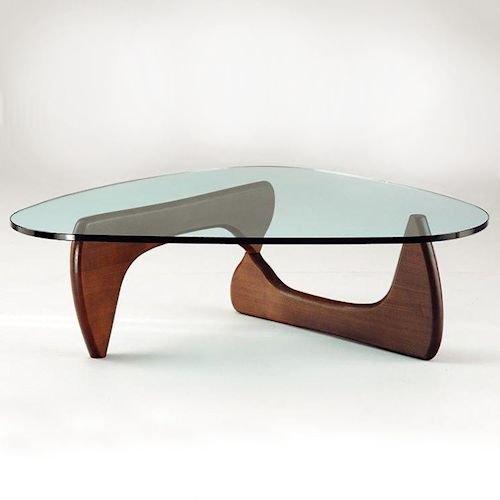イサム・ノグチ/コーヒーテーブル19mm強化ガラス【スティールライン】メイン画像-デザイナーズ家具通販N PLUS
