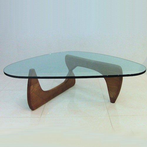 イサム・ノグチ/コーヒーテーブル19mm強化ガラス【スティールライン】詳細画像1