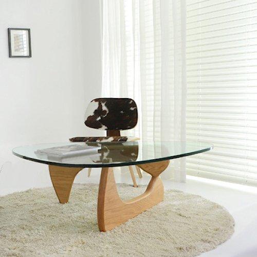 イサム・ノグチ/コーヒーテーブル19mm強化ガラス×アッシュ材木目有り詳細画像3