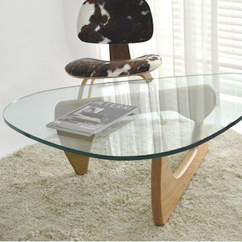 イサム・ノグチ/コーヒーテーブル19mm強化ガラス×アッシュ材木目有り詳細画像4