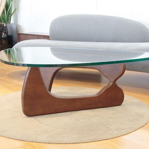 イサム・ノグチ/コーヒーテーブル19mm強化ガラス×アッシュ材木目有り詳細画像6