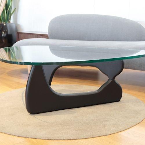 イサム・ノグチ/コーヒーテーブル19mm強化ガラス×アッシュ材木目有り詳細画像7