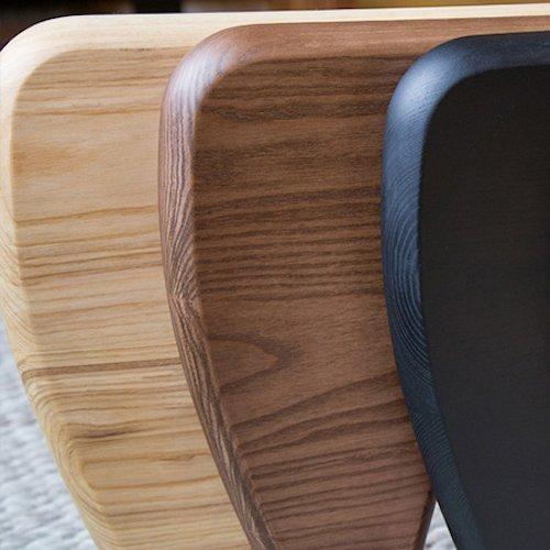 イサム・ノグチ/コーヒーテーブル19mm強化ガラス×アッシュ材木目有り詳細画像8