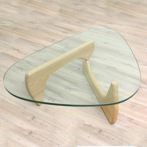 イサム・ノグチ/コーヒーテーブル19mm強化ガラス×アッシュ材木目有り詳細画像9