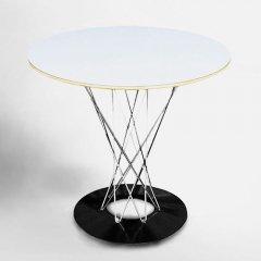 イサム・ノグチ/CycloneTableサイクロンテーブル80Ф【クロームレッグ】-デザイナーズ家具通販N PLUS
