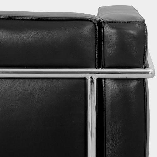 ル・コルビジェ/LC2グランコンフォート3Pソファエクストラ【特殊三層構造×セミアニリンレザー】詳細画像10