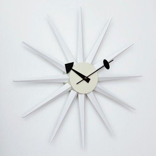 ジョージ・ネルソン/Sunburstサンバーストクロック【追加色ホワイト】メイン画像-デザイナーズ家具通販N PLUS