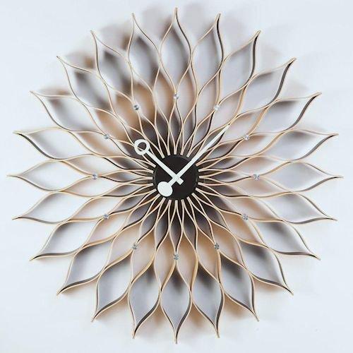 ジョージ・ネルソン/SunflowerClockサンフラワークロック【Verichronビーチ】メイン画像-デザイナーズ家具通販N PLUS