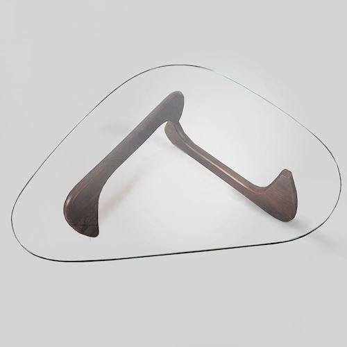 イサム・ノグチ/コーヒーテーブルタイプM【19mm強化ガラス×アッシュ材3カラー】メイン画像-デザイナーズ家具通販N PLUS
