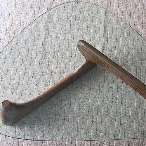 イサム・ノグチ/コーヒーテーブルタイプM【19mm強化ガラス×アッシュ材3カラー】詳細画像6