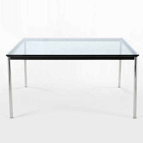 ル・コルビジェ/LC10ダイニングテーブル【W140×D80】15mm厚強化ガラス詳細画像3