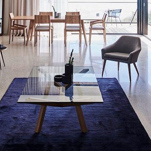 ショーン・ディックス/ForteLowTableフォルテローテーブル【ガラス天板W140×D90cm】詳細画像2