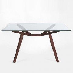 ショーン・ディックス/ForteTableフォルテダイニングテーブル【ガラス天板140×85cm】