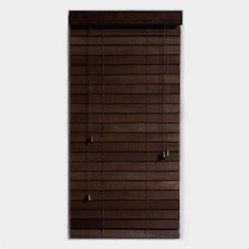 ウッドブラインド【スラット幅50mm幅60cm】メイン画像-デザイナーズ家具通販N PLUS