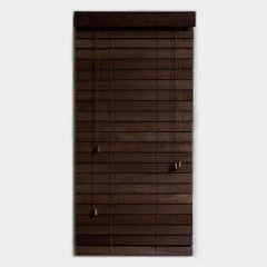 ウッドブラインド【スラット幅50mm幅160cm】-デザイナーズ家具通販N PLUS