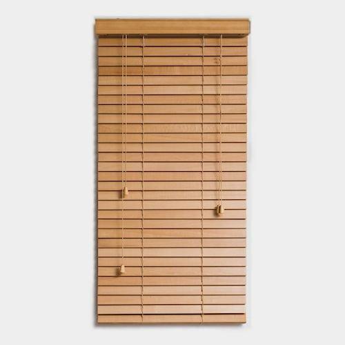 ウッドブラインド【スラット幅35mm幅60cm】メイン画像-デザイナーズ家具通販N PLUS