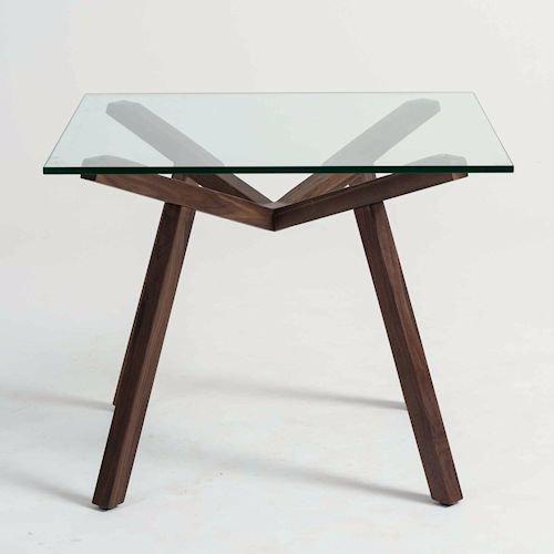 ショーン・ディックス/ForteTableフォルテダイニングテーブル【ガラス天板90×90cm】詳細画像2