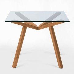ショーン・ディックス/ForteTableフォルテダイニングテーブル【ガラス天板90×90cm】