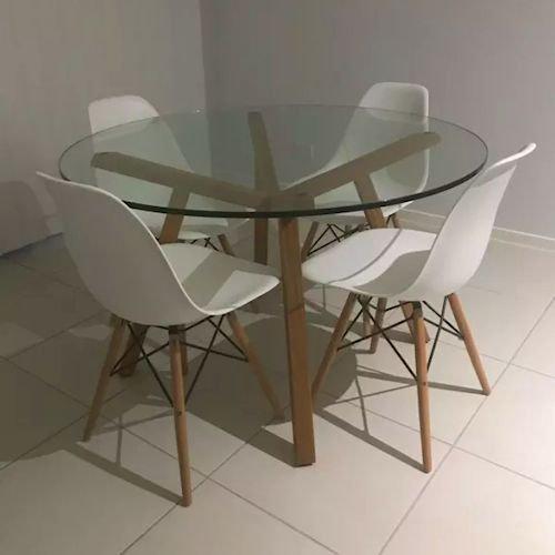 ショーン・ディックス/ForteTableフォルテダイニングテーブル【ガラス天板Ф120cm】詳細画像1
