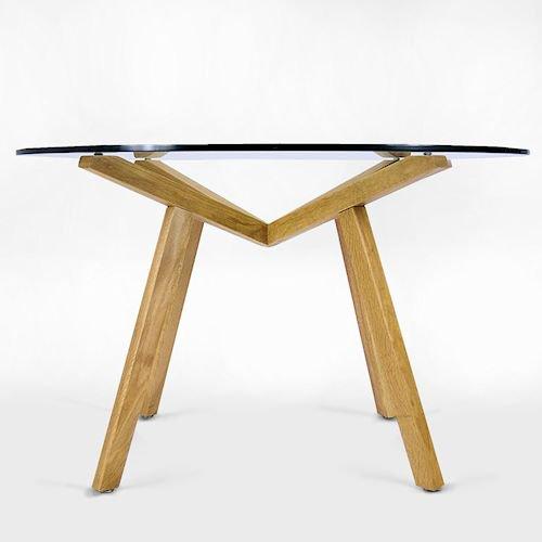 ショーン・ディックス/ForteTableフォルテダイニングテーブル【ガラス天板Ф120cm】詳細画像4