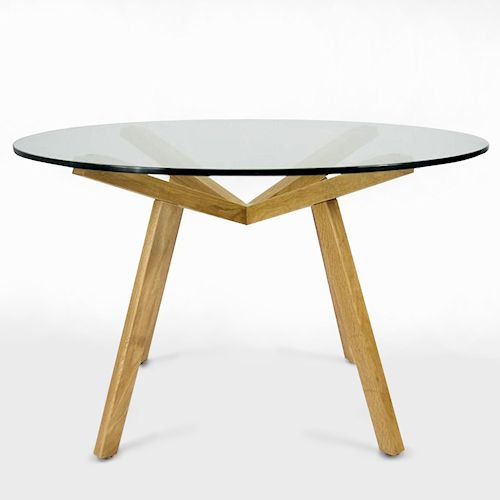 ショーン・ディックス/ForteTableフォルテダイニングテーブル【ガラス天板Ф120cm】詳細画像6