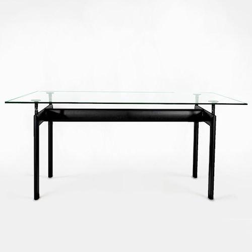 ル・コルビジェ/LC6ダイニングテーブル【W180cm・15mm強化ガラス】メイン画像-デザイナーズ家具通販N PLUS