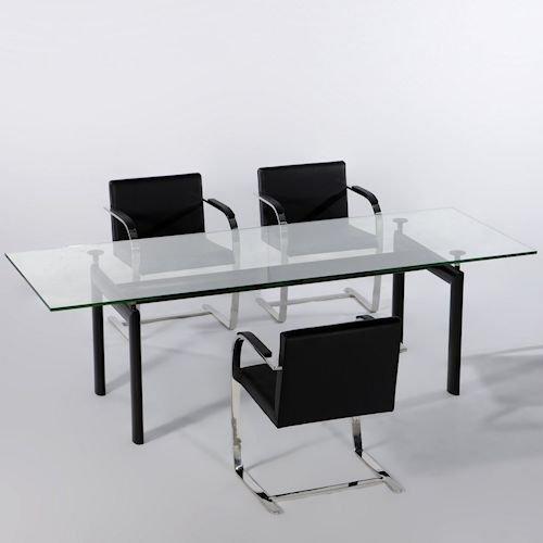 ル・コルビジェ/LC6ダイニングテーブル【W180cm・15mm強化ガラス】詳細画像2