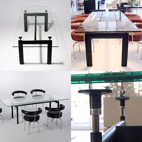 ル・コルビジェ/LC6ダイニングテーブル【W180cm・15mm強化ガラス】詳細画像3
