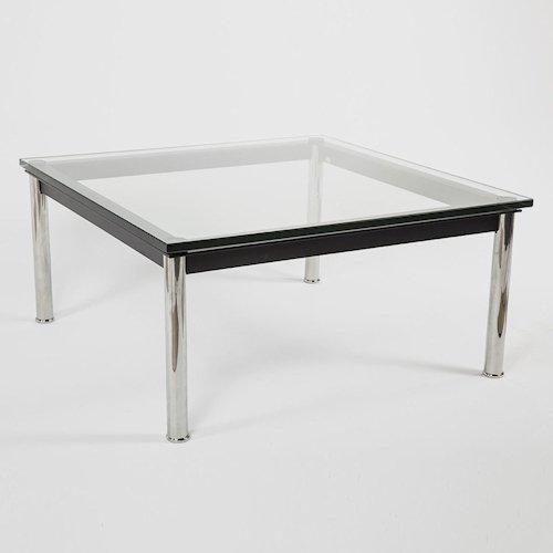 ル・コルビジェ/LC10ローテーブル【W70×D70】15mm厚強化ガラス詳細画像2