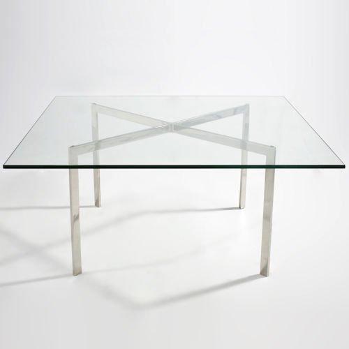 ミース・ファン・デル・ローエ/BarcelonaTableバルセロナコーヒーテーブル【12mm厚ガラス】詳細画像6