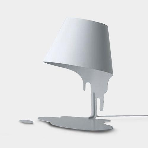 共栄デザイン/LiquidLampリキッドランプテーブルスタンド【ホワイト】メイン画像-デザイナーズ家具通販N PLUS