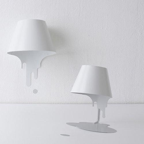 共栄デザイン/LiquidLampリキッドランプテーブルスタンド【ホワイト】詳細画像1