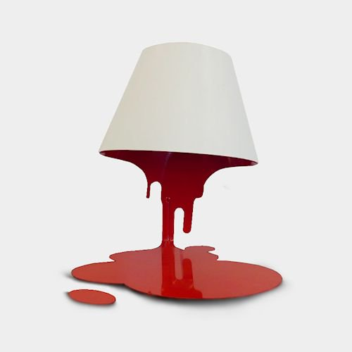 共栄デザイン/LiquidLampリキッドランプテーブルスタンド【レッド】メイン画像-デザイナーズ家具通販N PLUS
