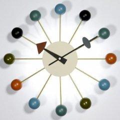ジョージ・ネルソン/BallClockボールクロック【マルチカラーアッシュ材×真鍮】