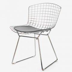 ハリー・ベルトイア/WireChairワイヤーチェア【ステンレスフレーム×シートパッド】-デザイナーズ家具通販N PLUS