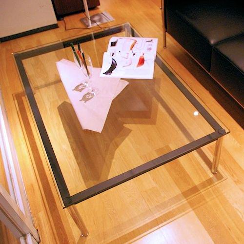 ル・コルビジェ/LC10ローテーブル【W120×D80】15mm厚強化ガラス詳細画像3