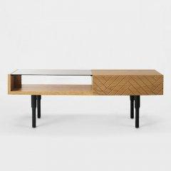 GARTガルト/ネオクラシックデザインKrotoクロートリビングテーブル【オーク前板】