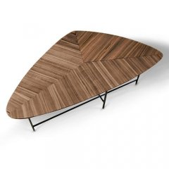 GARTガルト/ミッドセンチュリー変形天板リビングテーブルAlboアルボ