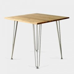フレンチインダストリアルリデザイン/ダイニングテーブル【W80×D80cm】