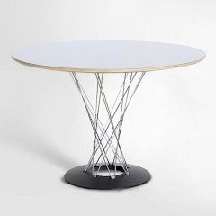 イサム・ノグチ/サイクロンテーブルCycloneTableФ105【クロームスティールロッド】-デザイナーズ家具通販N PLUS