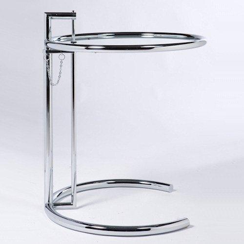 アイリーン・グレイ/E1027アジャスタブルテーブル【イタリアスティールライン】メイン画像-デザイナーズ家具通販N PLUS