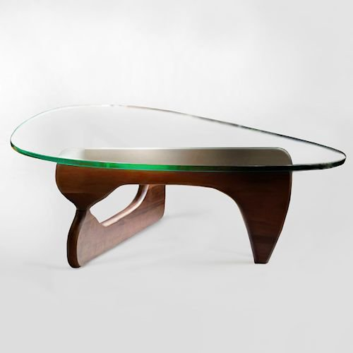 イサム・ノグチ/コーヒーテーブル19mm強化ガラス×ウォールナット無垢材メイン画像-デザイナーズ家具通販N PLUS