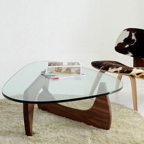 イサム・ノグチ/コーヒーテーブル19mm強化ガラス×ウォールナット無垢材詳細画像3