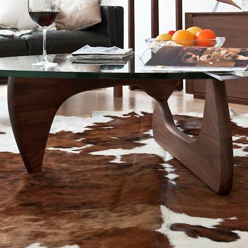 イサム・ノグチ/コーヒーテーブル19mm強化ガラス×ウォールナット無垢材詳細画像6
