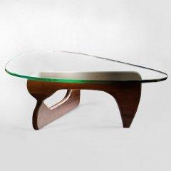 イサム・ノグチ/コーヒーテーブル19mm強化ガラス×ウォールナット無垢材
