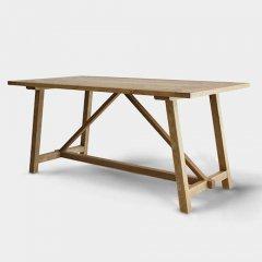 GARTガルト/ヴィンテージテイストオーク無垢材ダイニングテーブルSLSソラス【W160cm】